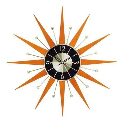 Hans Andersen Home Wooden Starburst Clock