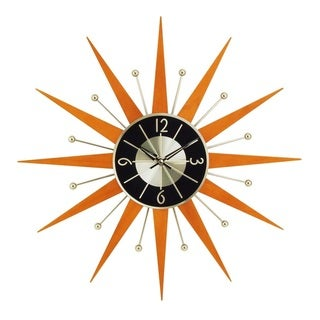 Hans Andersen Home Wooden Starburst Clock