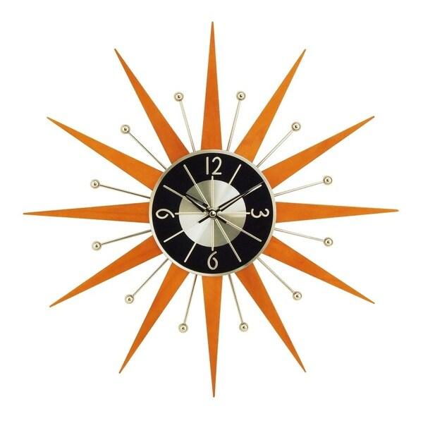 Hans Andersen Home Wooden Starburst Clock. Opens flyout.