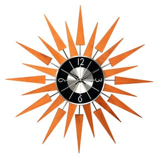 Hans Andersen Home Wooden Sunburst Clock