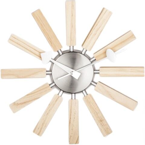 Hans Andersen Home Wooden Spokes Clock