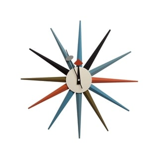 Hans Andersen Home Multi-color Sunburst Clock