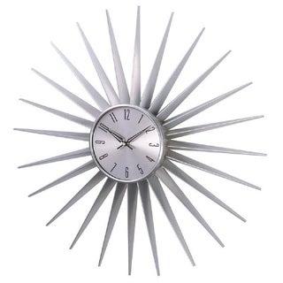 Hans Andersen Home Silver Sunburst Clock