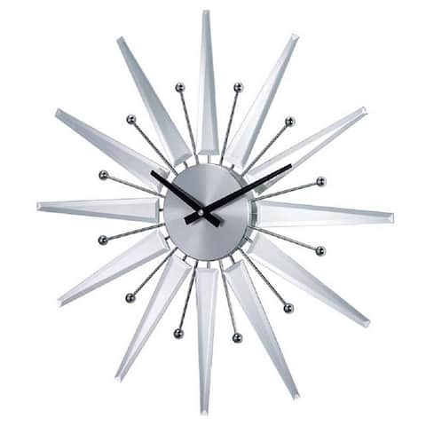 Hans Andersen Home Mirrored Starburst Clock