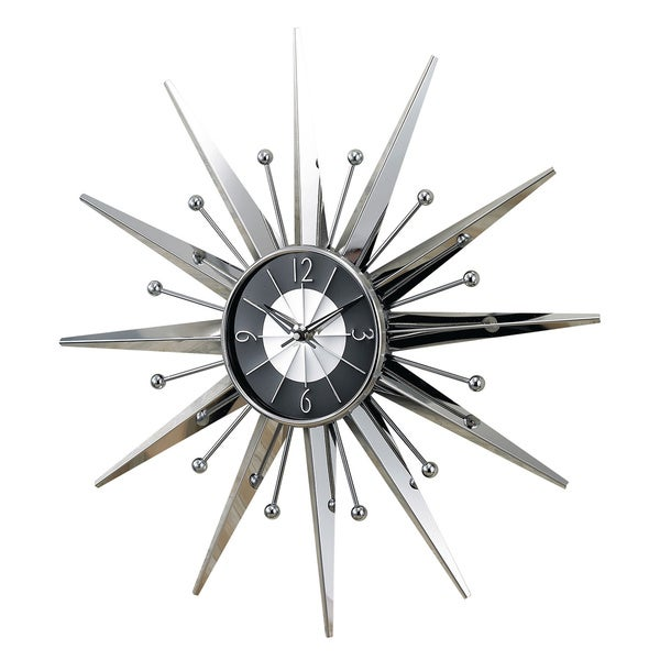 Hans Andersen Home Metal Sunray Clock Free Shipping