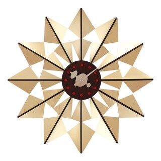 Hans Andersen Home Gold Butterfly Clock
