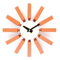 Hans Andersen Home Orange Block Clock