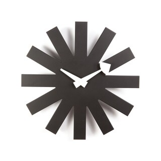 Hans Andersen Home Black Asterisk clock