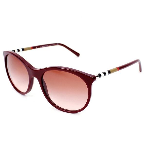 df0680b4857d Shop Burberry BE4145 Sunglasses 340313 Gradient Sunglasses - Free ...