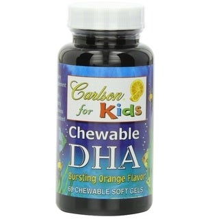 Carlson for Kids Bursting Orange Flavor Chewable DHA SoftGels (60 Capsules)