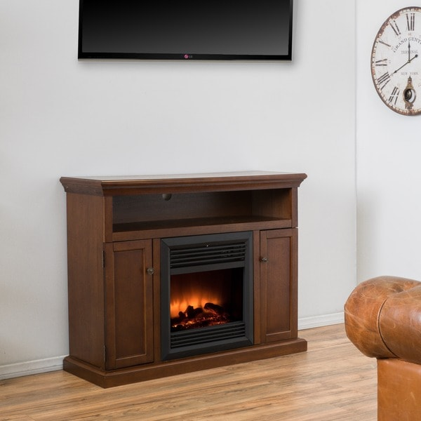 Homestead Electric Fireplace Mantel with Remote Control by ...