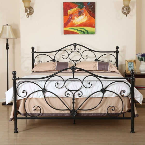 Marcus Queen Metal Bed By Christopher Knight Home