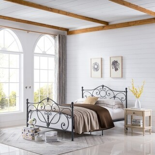 Marcus Queen Metal Bed by Christopher Knight Home|https://ak1.ostkcdn.com/images/products/10170615/P17298399.jpg?_ostk_perf_=percv&impolicy=medium