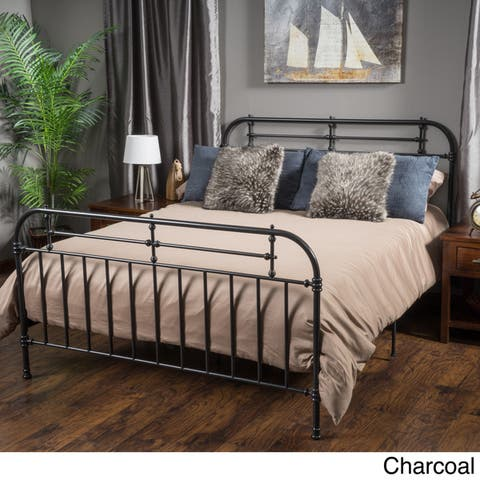 Nathan Queen Sized Metal Bed Frame by Christopher Knight Home