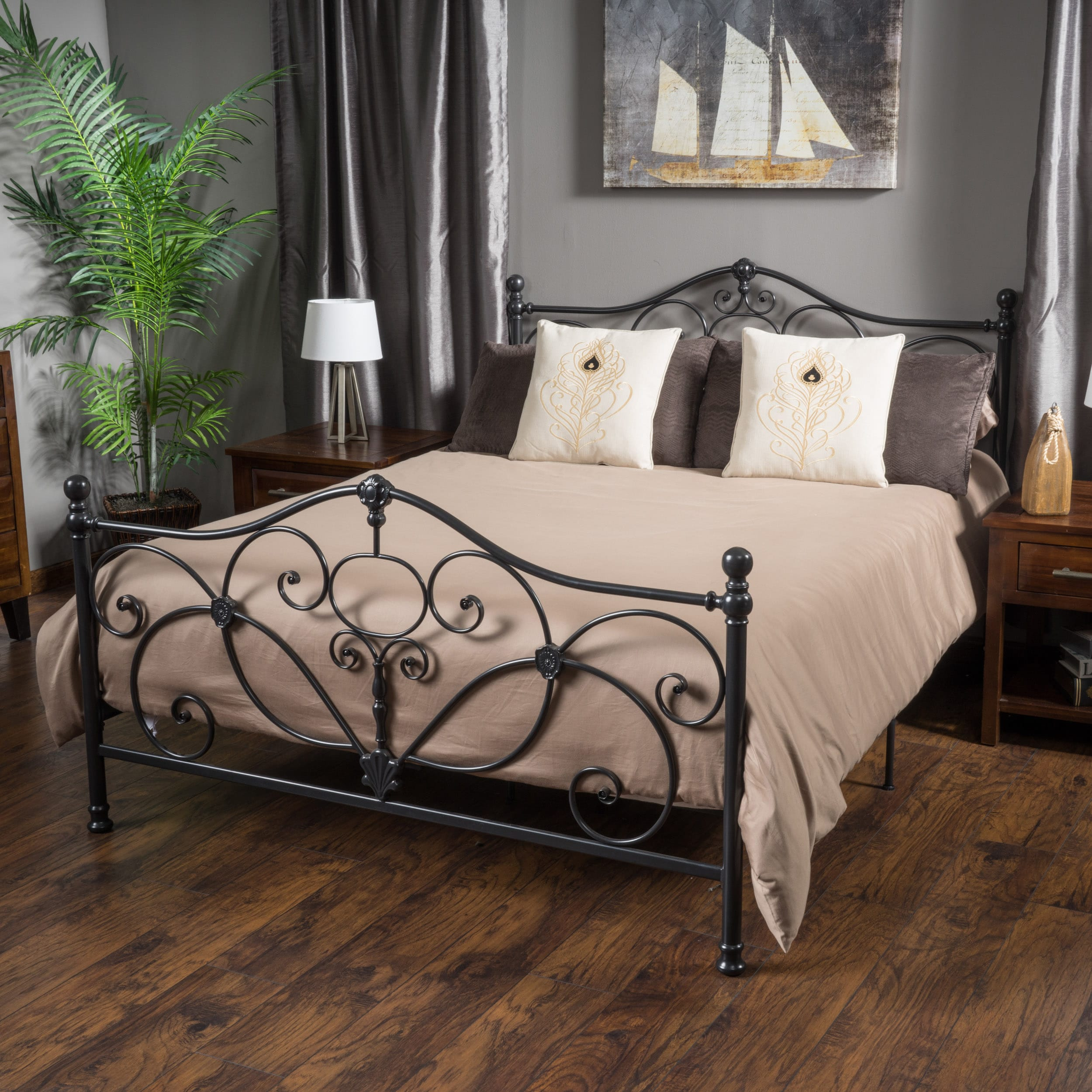 Marcus King-size Metal Bed Frame by Christopher Knight Ho...