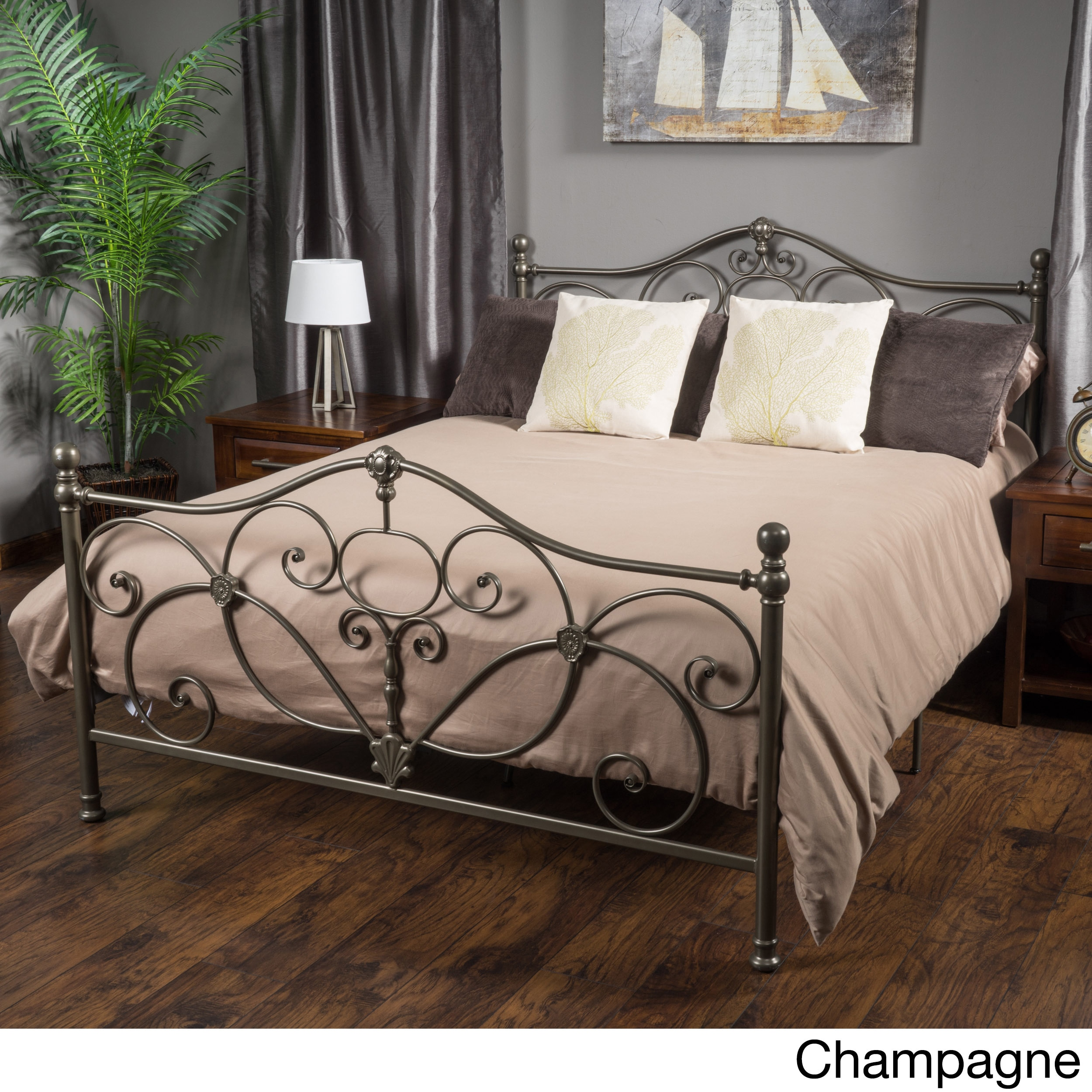 Marcus King-size Metal Bed Frame by Christopher Knight Home   eBay