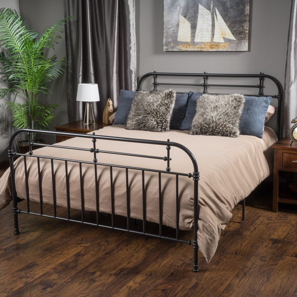 Shop Nathan King Size Metal Bed Frame by Christopher Knight Home ...