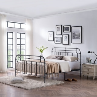 Nathan King Size Metal Bed Frame by Christopher Knight Home