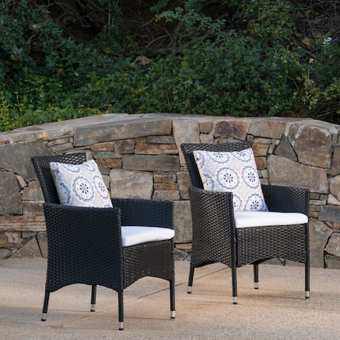 Malta Wicker Dining Chair by Christopher Knight Home (Set of 2)
