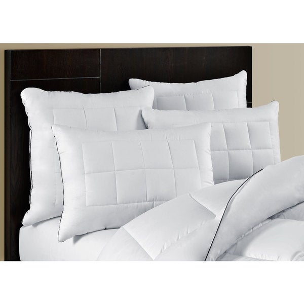 Maison Luxe Ultimate Comfort Silky Touch Feather and Down Layered Pillow (Set of 2)