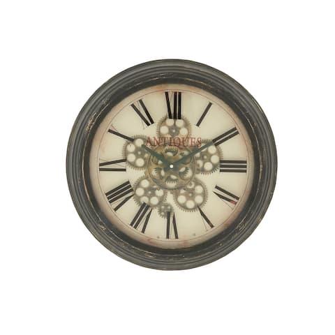 Gracewood Hollow Tantaquidgeon Stylish Vintage Themed Metal Wall Clock