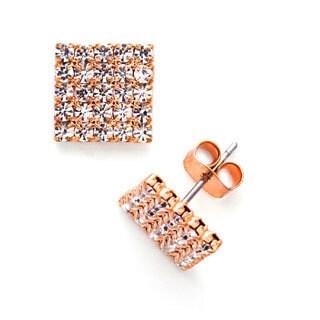 Isla Simone Crystal 5 x 5 Stud Earring