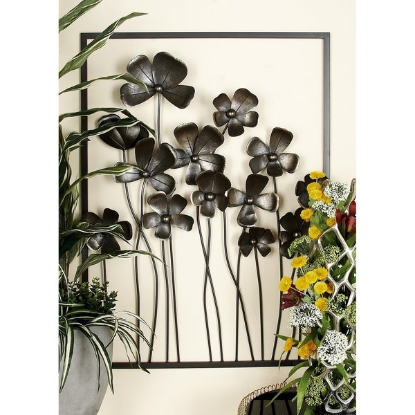 Studio 350 Metal Outdor Wall Decor Set of 3, 64 inches wide,43 inches high