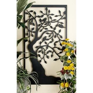 Elegant Metal Outdoor Tree Wall Plaque