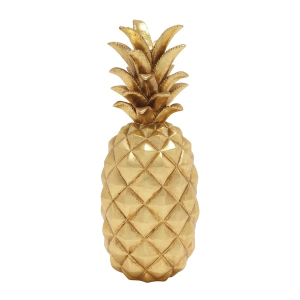 Shop Stunning And Sparkly Golden Pineapple Decor Free