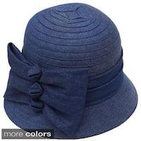 Swan Hat Women's Lightweight Denim Ribbon Hat