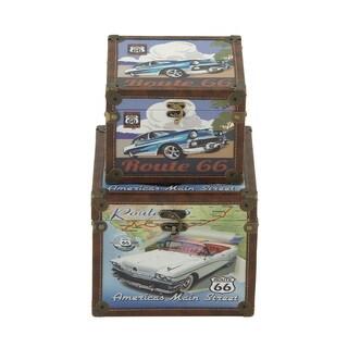 Well-designed Wood Canvas Box (Set of 2)