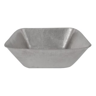 Premier Copper Products Square Vessel Hammered Copper Sink in Electroless Nickel