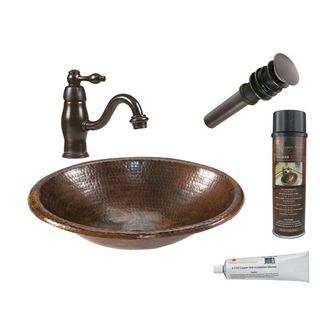 Premier Copper Products LO17RDB Faucet Package with Single Handle