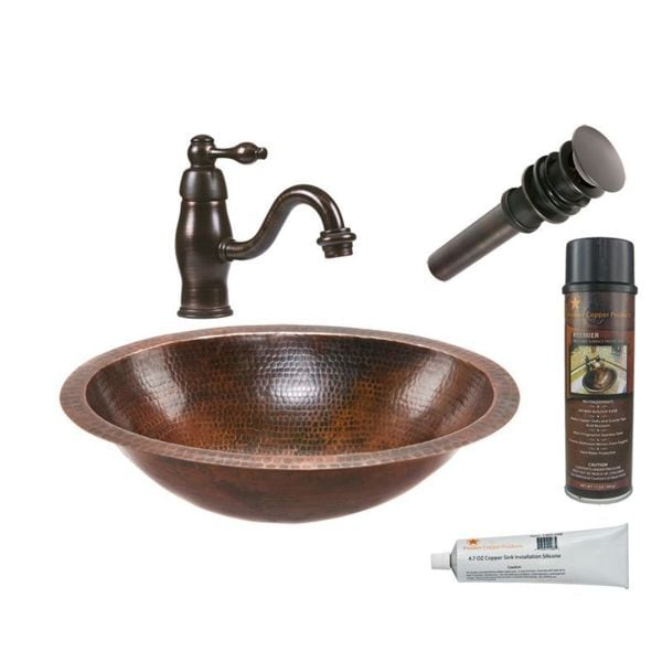 Handmade Brown Faucet Package with Single Handle (Mexico)