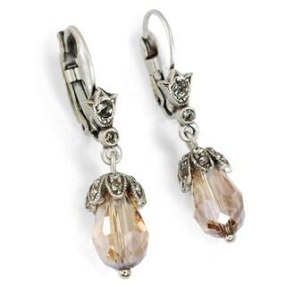 Sweet Romance Art Deco Vintage Crystal Teardrop Earrings (Option: Champagne)