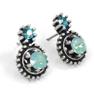 Sweet Romance Small Double Crystal Stud Earrings