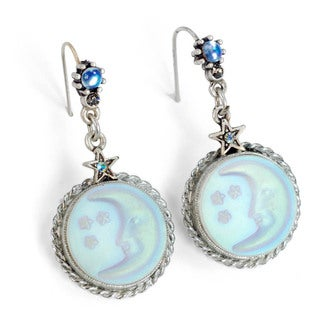 Sweet Romance Aurora Moon Silver Earrings
