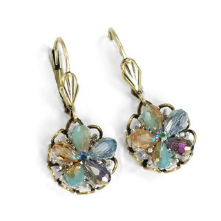 Sweet Romance Beaded Flower Boho Earrings