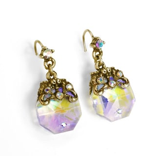 Sweet Romance Crystal Colors Octagon Prism Earrings