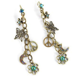 Sweet Romance 1960s Hippie Charm Earrings