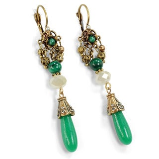 Sweet Romance Vintage Jade Glass Festival Earrings