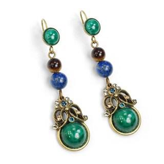 Sweet Romance Vintage Glass Bohmian Earrings