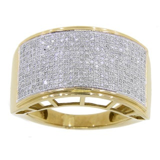 10k Yellow Gold Men's 7/8ct TDW Diamond Ring