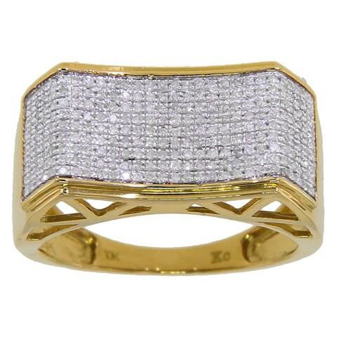 10k Yellow Gold Men's 3/5ct TDW Diamond Ring