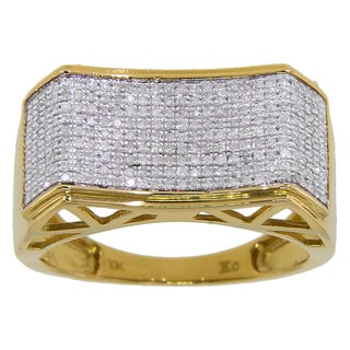10k Yellow Gold Men's 3/5ct TDW Diamond Ring (G-H, I2-I3)