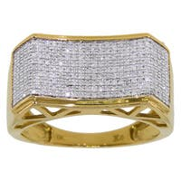10k Yellow Gold Men's 3/5ct TDW Diamond Ring