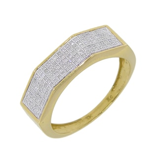 10k Yellow Gold Men's 2/5ct TDW Diamond Wedding Band (G-H, I2-I3)