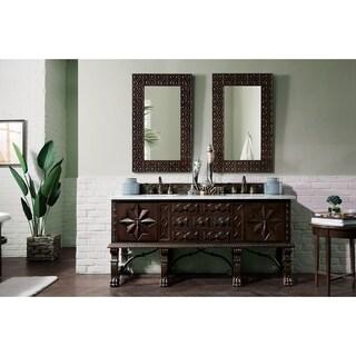 "Balmoral 72"" Double Vanity Cabinet, Antique Walnut"