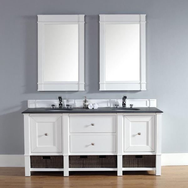 James Martin 72-inch Double Bath Vanity | Overstock.com Shopping - The Best Deals on Bathroom Vanities