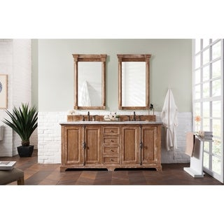 "Providence 72"" Double Vanity Cabinet, Driftwood"